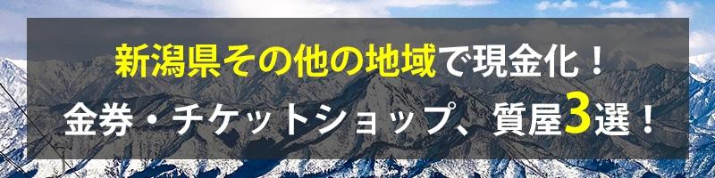 新潟県その他の地域で現金化!新潟県その他の地域の金券・チケットショップ、質屋3選!