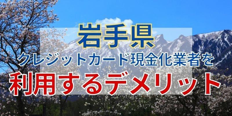岩手県のクレジットカード現金化業者を利用するデメリット