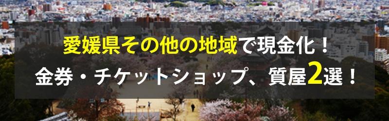 愛媛県その他の地域で現金化!愛媛県その他の地域の金券・チケットショップ、質屋2選!