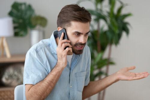 電話口で交渉を試みる