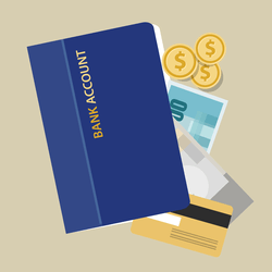 指定の銀行口座へ入金