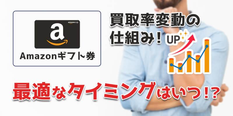 Amazonギフト券の買取率変動の仕組み!最適なタイミングはいつ!?